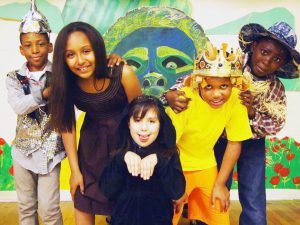 The lead performers in The Wiz.