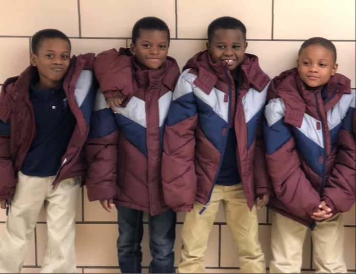 Students with new jackets